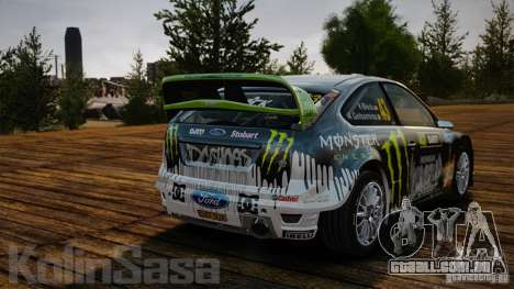 Ford Focus RS WRC para GTA 4 vista interior