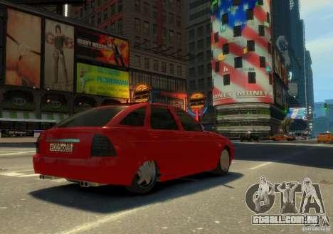 Hatchback de LADA priora para GTA 4 esquerda vista