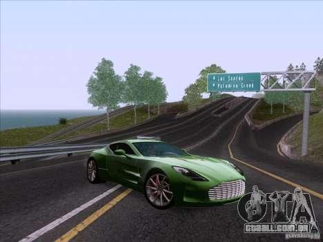 Aston Martin One-77 2010 para GTA San Andreas vista traseira