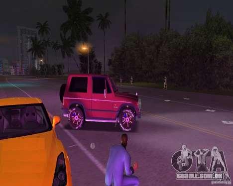 Mitsubishi Pajero para GTA Vice City vista traseira esquerda