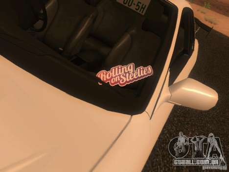 Nissan Skyline GTS R32 JDM para GTA San Andreas vista traseira