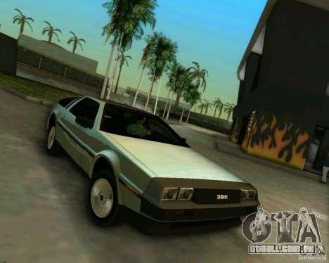 DeLorean DMC-12 V8 para GTA Vice City deixou vista