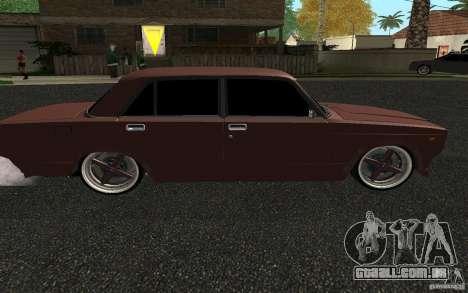 VAZ-2107 carro Tuning para GTA San Andreas traseira esquerda vista