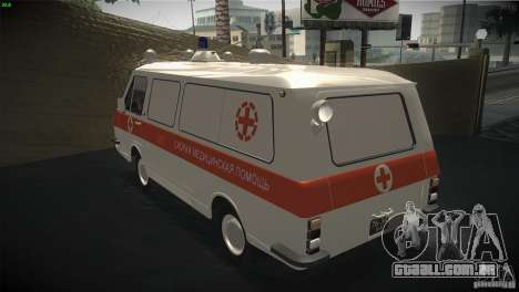 RAF 22031 ambulância para GTA San Andreas traseira esquerda vista