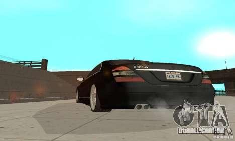 Brabus SV12 S Biturbo (w221) 2006 para GTA San Andreas