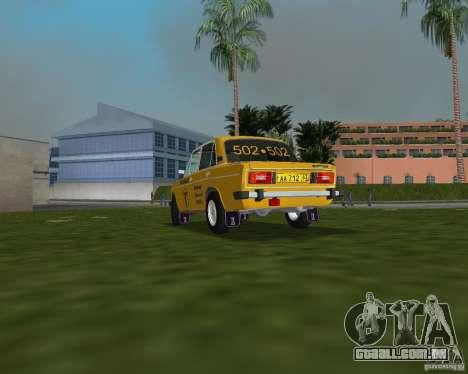 Táxi VAZ 2106 para GTA Vice City deixou vista