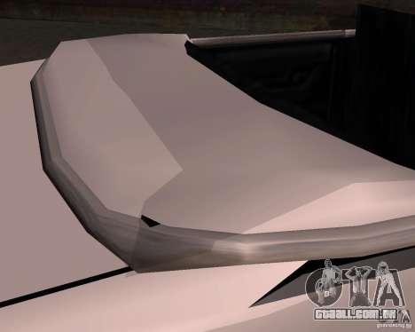 Táxi Cabriolet para GTA San Andreas vista superior