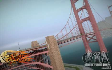 New Golden Gate bridge SF v1.0 para GTA San Andreas