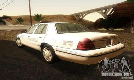 Ford Crown Victoria Neberska Police para GTA San Andreas esquerda vista