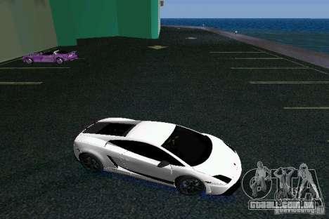 Lamborghini Gallardo LP570 SuperLeggera para GTA Vice City vista traseira