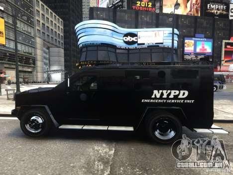 Lenco BearCat NYPD ESU V.1 para GTA 4 esquerda vista