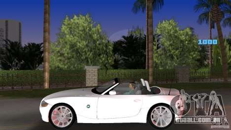 BMW Z4 2004 para GTA Vice City deixou vista