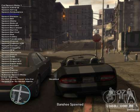 Simple Native Trainer v6.4 para GTA 4 por diante tela