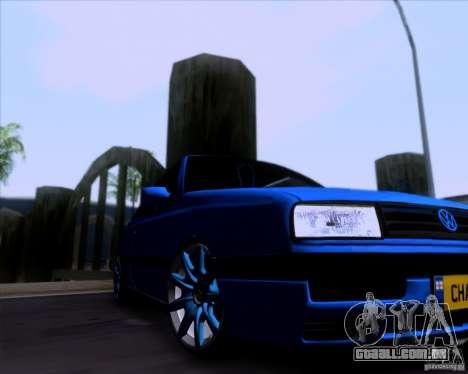 Volkswagen Golf III para GTA San Andreas vista traseira