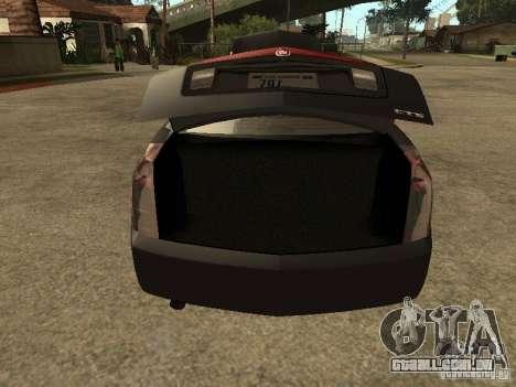 Cadillac CTS para GTA San Andreas vista traseira