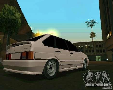 Ваз 2114 Extras para GTA San Andreas esquerda vista
