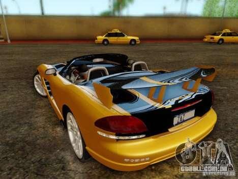 Dodge Viper SRT-10 Roadster ACR 2004 para GTA San Andreas esquerda vista