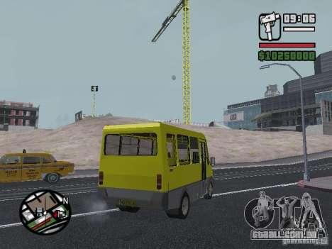 2215 GOLFINHO BANCO DE DADOS para GTA San Andreas vista traseira