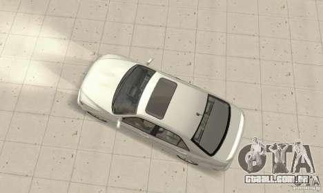 Lexus IS300 Stock para GTA San Andreas traseira esquerda vista