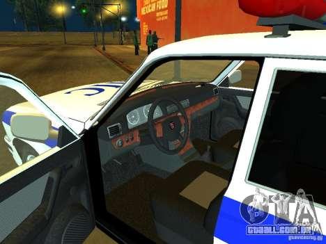 GAZ 31105 polícia para GTA San Andreas vista direita