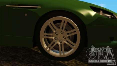 Aston Martin DB9 para GTA San Andreas vista interior