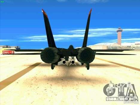 F-14 Tomcat Razgriz para GTA San Andreas traseira esquerda vista
