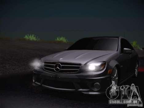 Mercedes-Benz S63 AMG para GTA San Andreas vista traseira