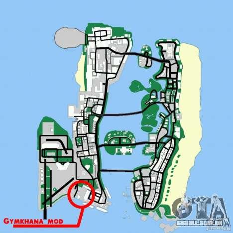Gymkhana mod para GTA Vice City por diante tela