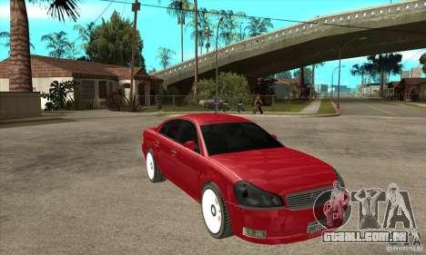 GTA IV Intruder para GTA San Andreas vista traseira