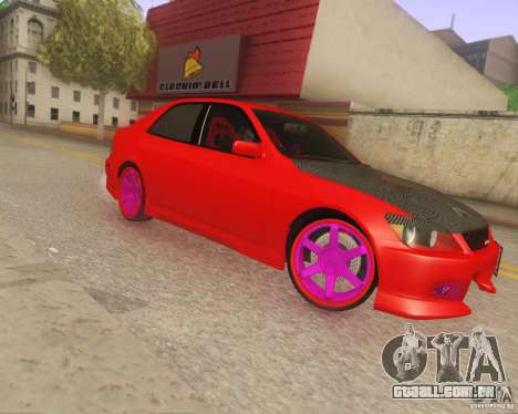 Toyota Altezza Drift Style v4.0 Final para GTA San Andreas esquerda vista
