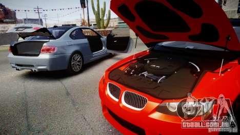 BMW M3 E92 ZCP 2012 para GTA 4 traseira esquerda vista