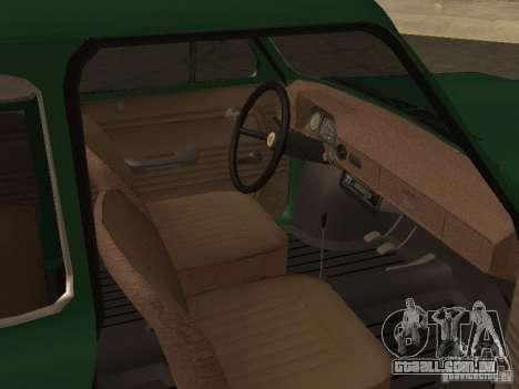 ZAZ 968 dreno para GTA San Andreas vista direita