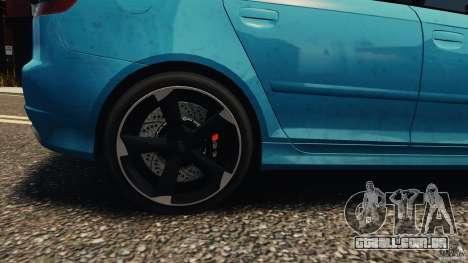 Audi RS3 Sportback V1.0 para GTA 4 vista de volta