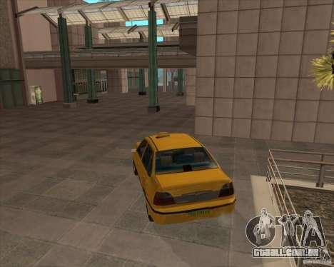 Daewoo Nexia Taxi para GTA San Andreas esquerda vista