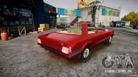 Ford Taunus para GTA 4 vista interior