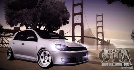 Volkswagen Golf VI 2010 Stance Nation para vista lateral GTA San Andreas