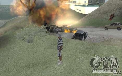 Onda de fogo para GTA San Andreas por diante tela