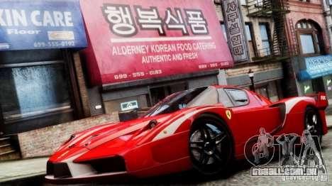 Ferrari FXX Evoluzione para GTA 4 traseira esquerda vista