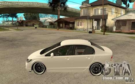 Honda Civic FD para GTA San Andreas esquerda vista