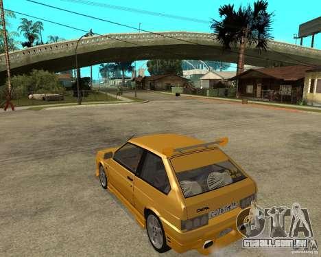 ВАЗ 2108 esporte Yucca para GTA San Andreas esquerda vista
