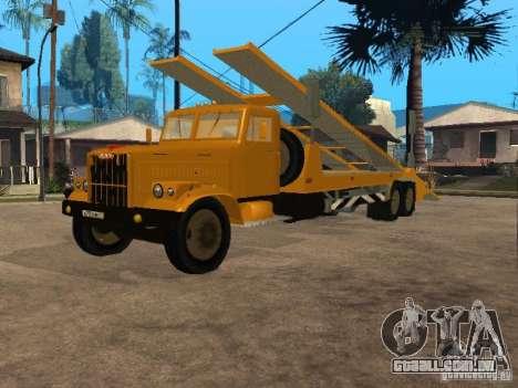 Transportador de auto KrAZ 255 para GTA San Andreas