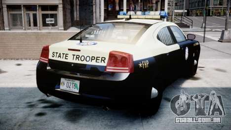 Dodge Charger Florida Highway Patrol [ELS] para GTA 4 traseira esquerda vista