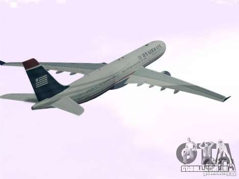 Airbus A330-300 US Airways para GTA San Andreas esquerda vista