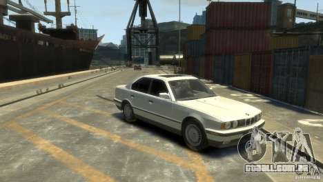 BMW 525i para GTA 4 traseira esquerda vista