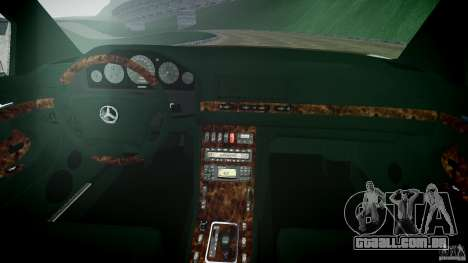 Mercedes Benz SL600 W140 98 performance shafter para GTA 4 vista direita
