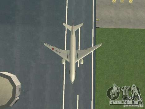 Boeing 777-200 Japan Airlines para vista lateral GTA San Andreas