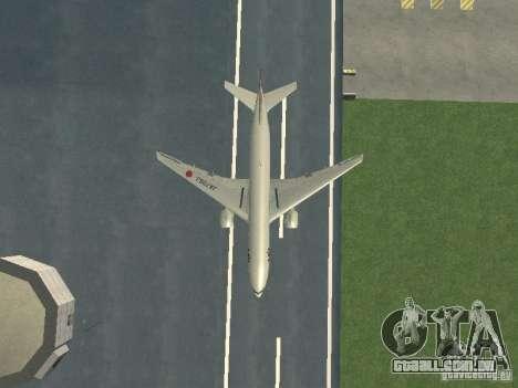 Boeing 777-200 Japan Airlines para vista lateral GTA San Andreas
