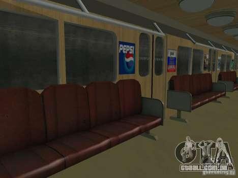 Metro e para GTA San Andreas vista interior