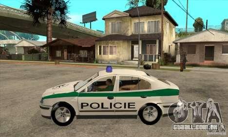 Skoda Octavia Police CZ para GTA San Andreas esquerda vista