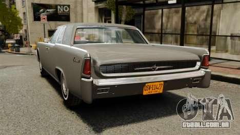 Lincoln Continental 1962 para GTA 4 traseira esquerda vista